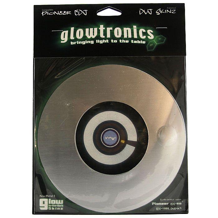 GLOWTRONICS - Glowtronics Brushed Aluminium Pioneer Skinz Slipmats (pair)