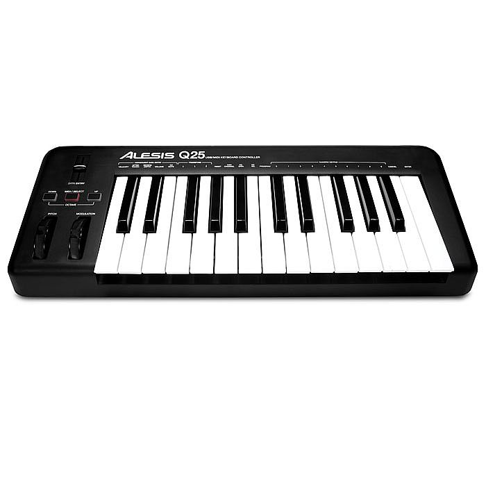 Alesis Q25 25 Key USB MIDI Keyboard Controller + Ableton Live Lite Software  & Sonivox Virtual Instruments