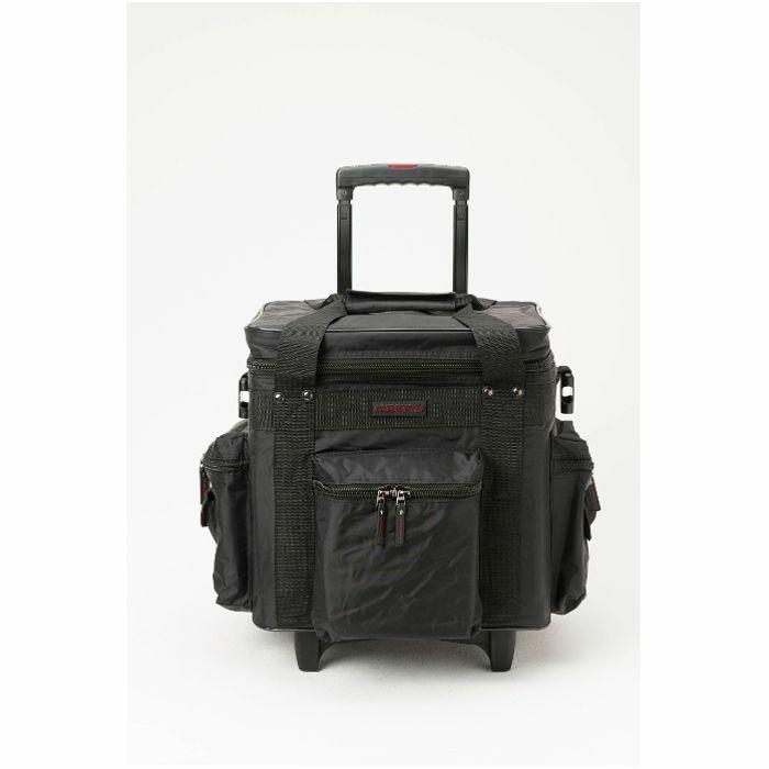 MAGMA - Magma LP100 DJ 12 Inch Vinyl Record Trolley Bag (black, red)