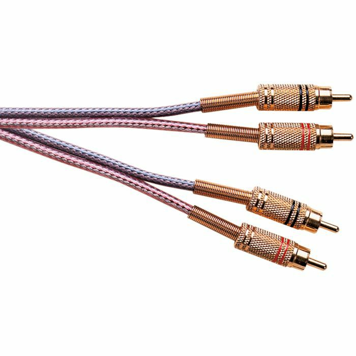 ELECTROVISION - Electrovision Male To Male Stereo Phono (RCA) Cable (1.8m, colour braided)