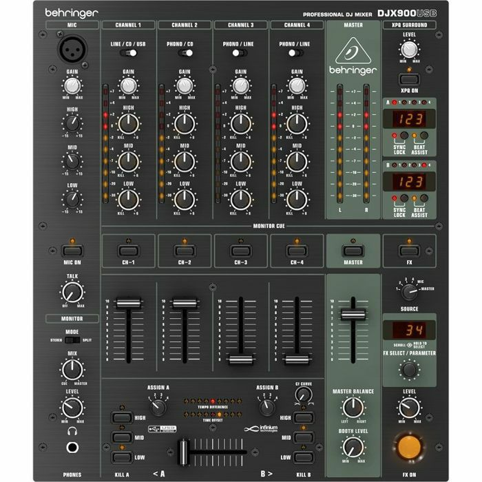 behringer behringer djx900 usb dj mixer vinyl at juno records. Black Bedroom Furniture Sets. Home Design Ideas