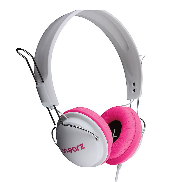 ON EARZ - On Earz Lounge Headphones (white & purple fushia)