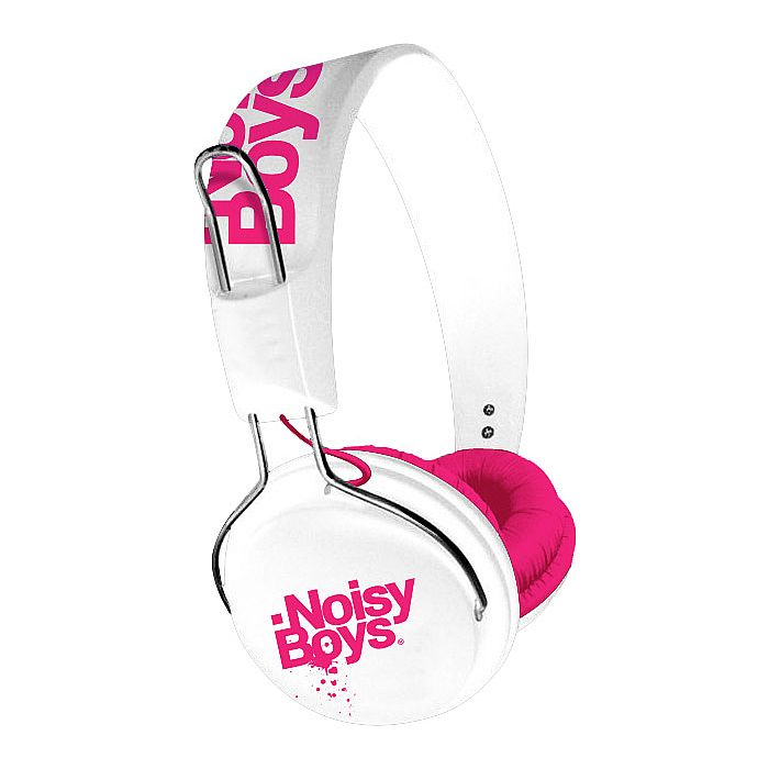 ON EARZ - On Earz Lounge NoisyBoys Headphones (white fushia)