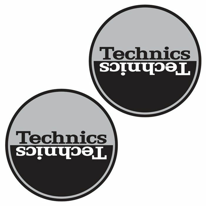 TECHNICS - Technics Moon 1 Slipmats (pair, silver & black)