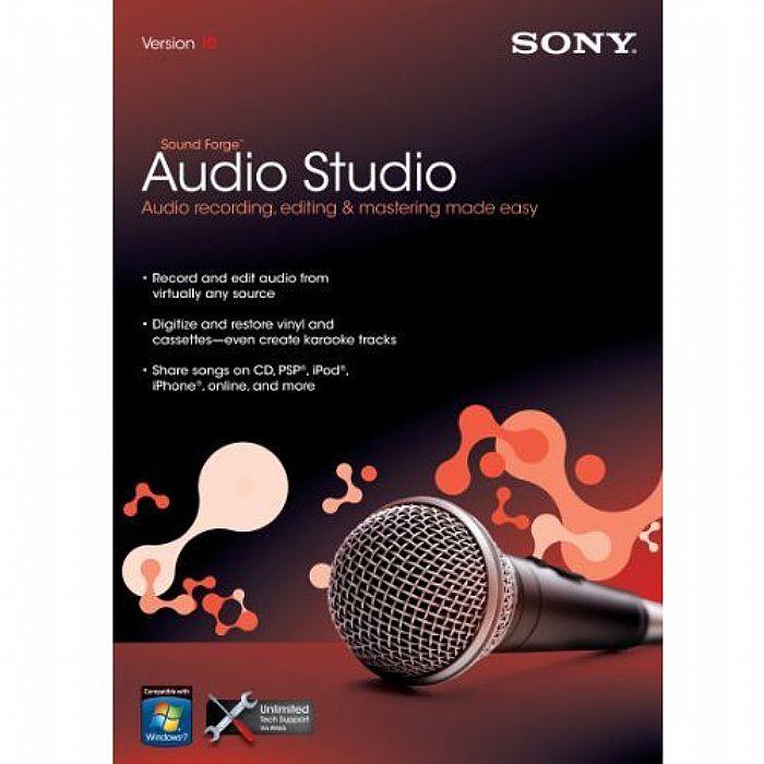 SONY - Sony Sound Forge Audio Studio 10 Software