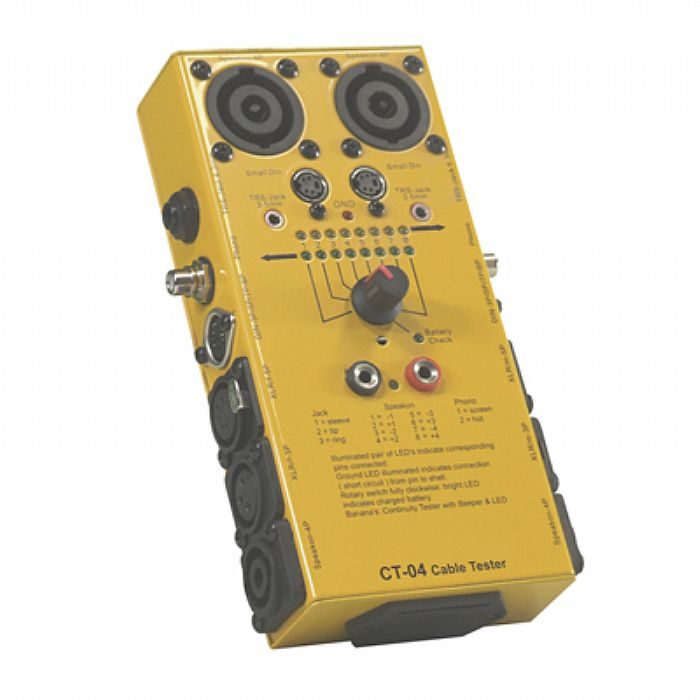 SOUND LAB - Sound LAB CT4 Cable Tester (universal lead tester for use with most audio cables) (yellow)