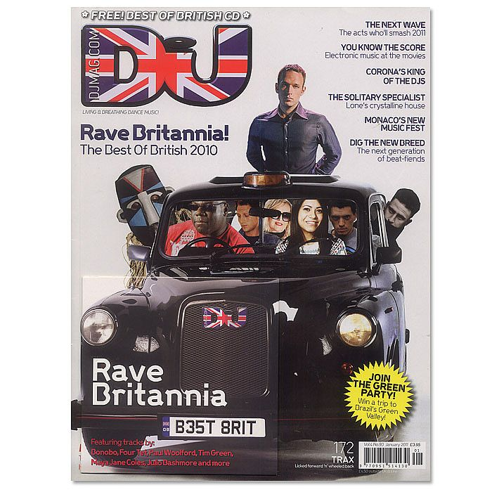 DJ MAGAZINE - DJ Magazine January 2011: Vol 4/#93 (incl. free Rave Britannia mix CD)
