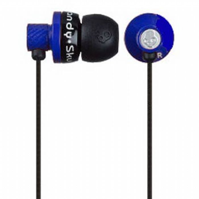 skullcandy skullcandy titan in ear earphones black blue vinyl at