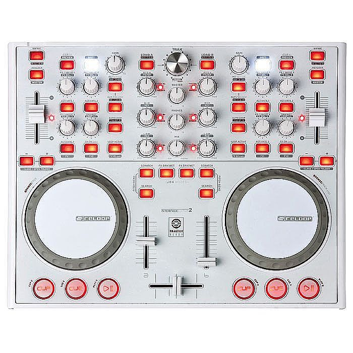 RELOOP - Reloop Digital Jockey 2 Interface Edition DJ Controller & Traktor Pro 2 Upgrade Bundle (limited edition white version)