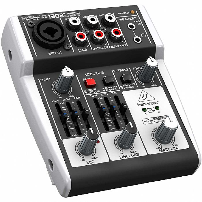 BEHRINGER - Behringer 302 USB Xenyx Mixer + Tracktion 4 Audio Production Software