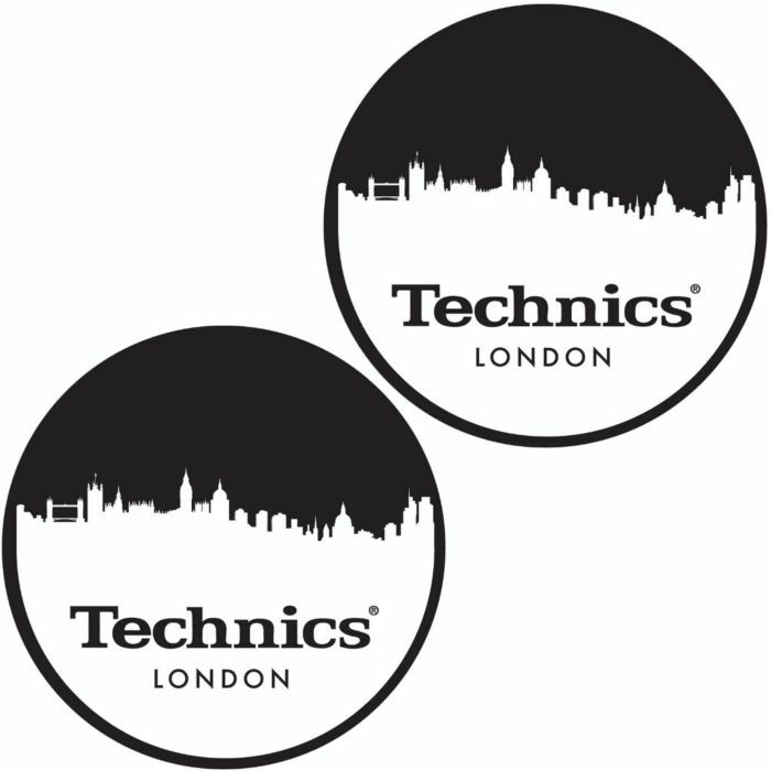 TECHNICS - Technics London Skyline Slipmats (black, white)