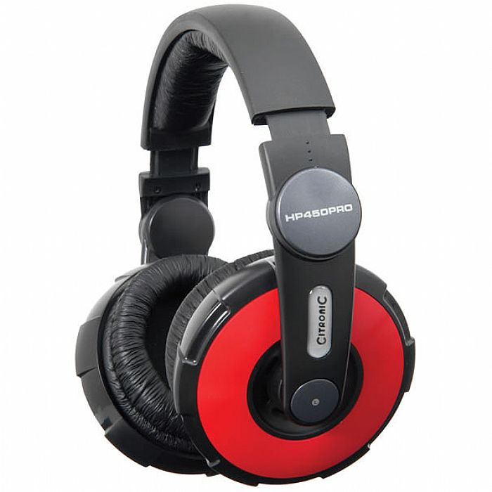 CITRONIC - Citronic HP450PRO DJ Headphones (red)