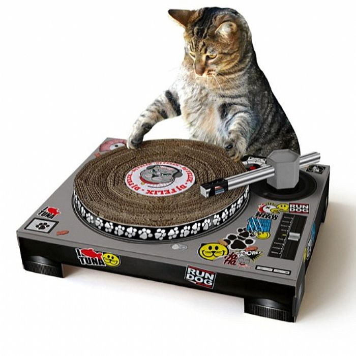 Suck UK DJ Cat Scratch Turntable