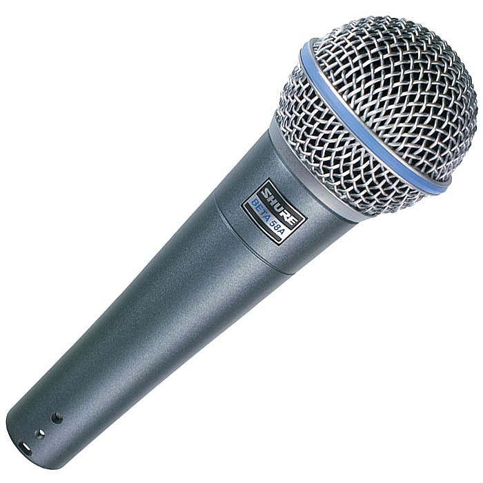 SHURE - Shure Beta 58A Dynamic Microphone (metallic blue)