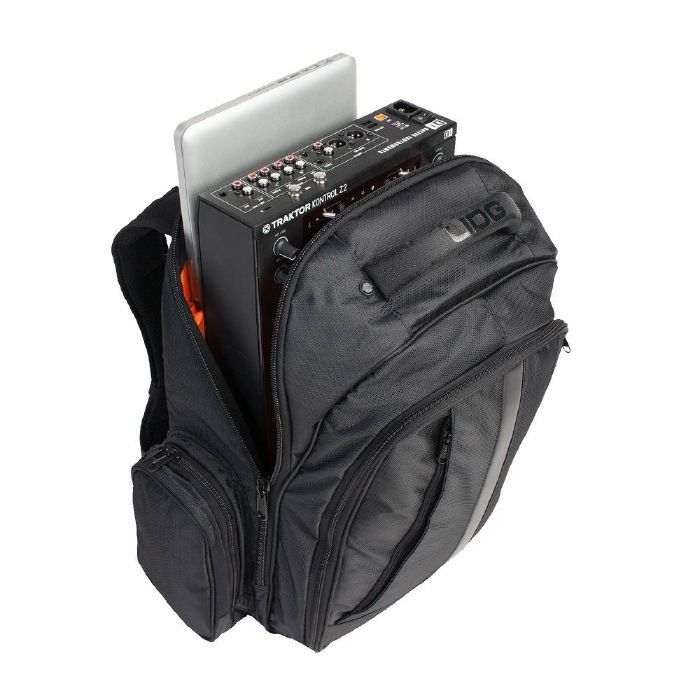 UDG - UDG Ultimate DJ BackPack For 17 Inch Laptop Controller Headphones & Accessories (black, orange)
