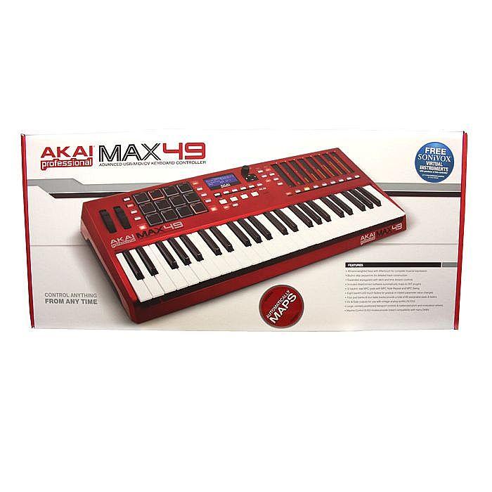 akai akai max 49 usb midi cv keyboard controller with avid