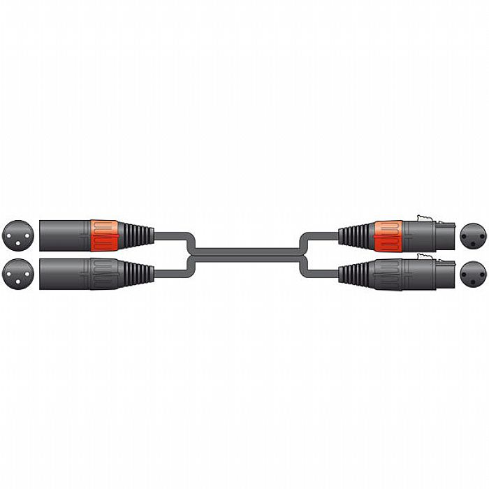 CHORD - Chord 2 x XLR Female To 2 x XLR Male Lead (0.75m)