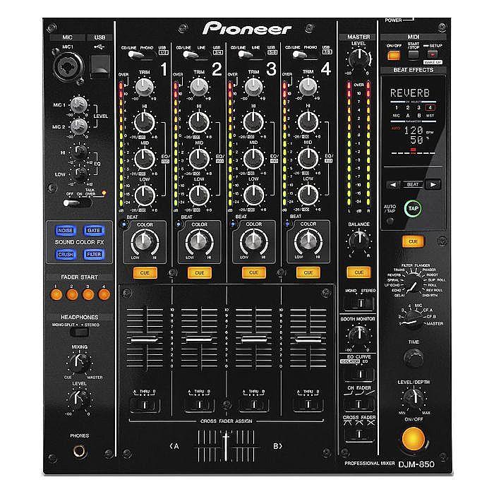 PIONEER - Pioneer DJM850 DJ Mixer (black)