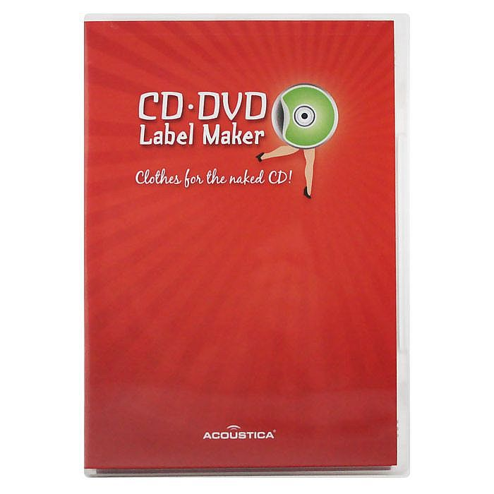 photograph about Printable Vinyl Record Labels titled Acoustica CD DVD Label Printing Program