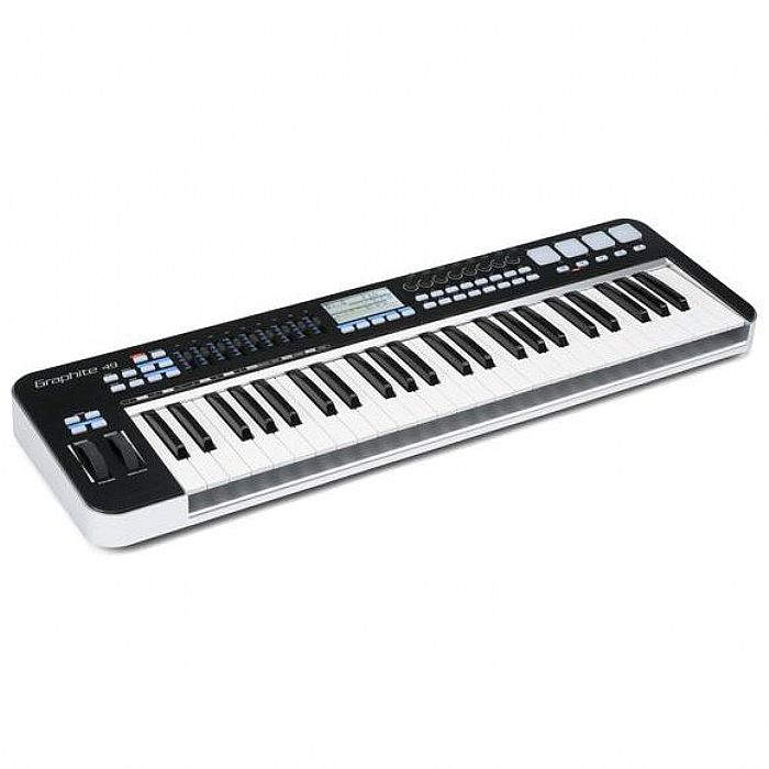 SAMSON - Samson Graphite 49 USB MIDI Controller Keyboard With Native Instruments Komplete Elements Production Software