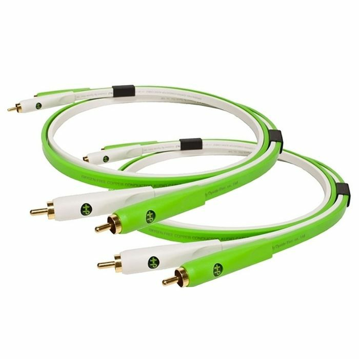 NEO - Neo d+ RCA Duo Class B Audio Cables (lime/white, 1.0m)