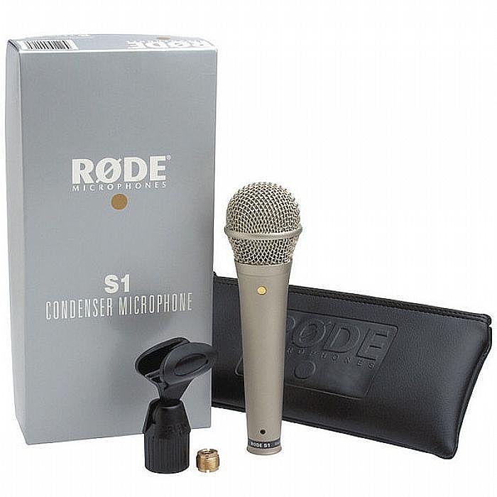 RODE/NEW JERSEY SOUND - Rode S1 Live Condenser Vocal Microphone + FREE New Jersey Sound Microphone Stand (black)