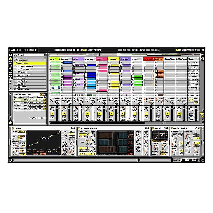 Ableton Live 8 DJ & Music Production Software + Editors Keys Ableton Live  Dedicated Shortcut Keyboard For PC & Mac (SPECIAL LOW PRICE BUNDLE - SAVE