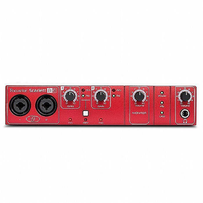 FOCUSRITE - Focusrite Scarlett 8i6 Audio/MIDI Interface + Ableton Live Lite Audio Production Software (B-STOCK)