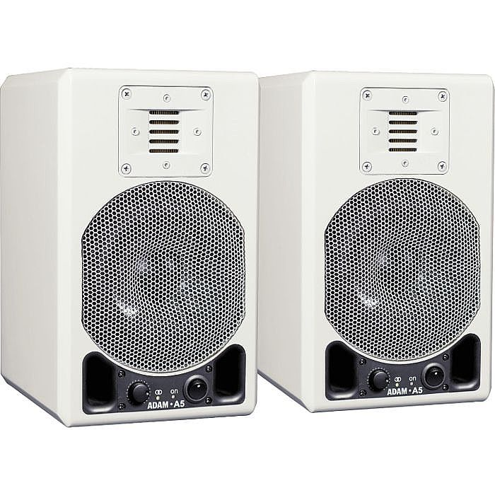 Adam A5 Active Studio Monitors (pair, white glossy)