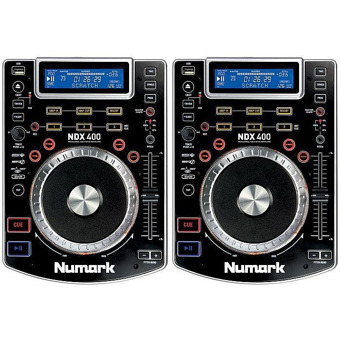Numark NDX400 Tabletop Scratch MP3 CD USB Players (pair)