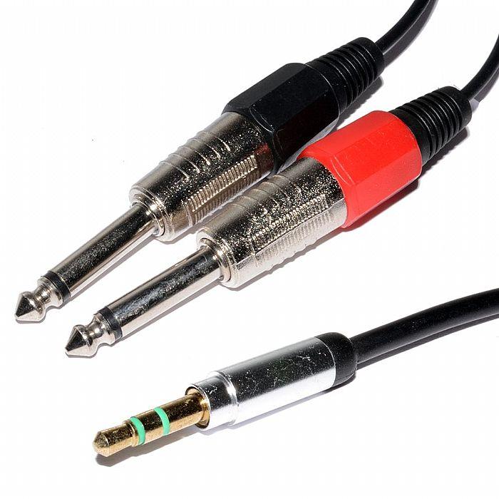 CHORD - Chord Audio Lead 3.5mm Stereo Jack to 2 x 6.3mm Mono Jacks (1.5m)