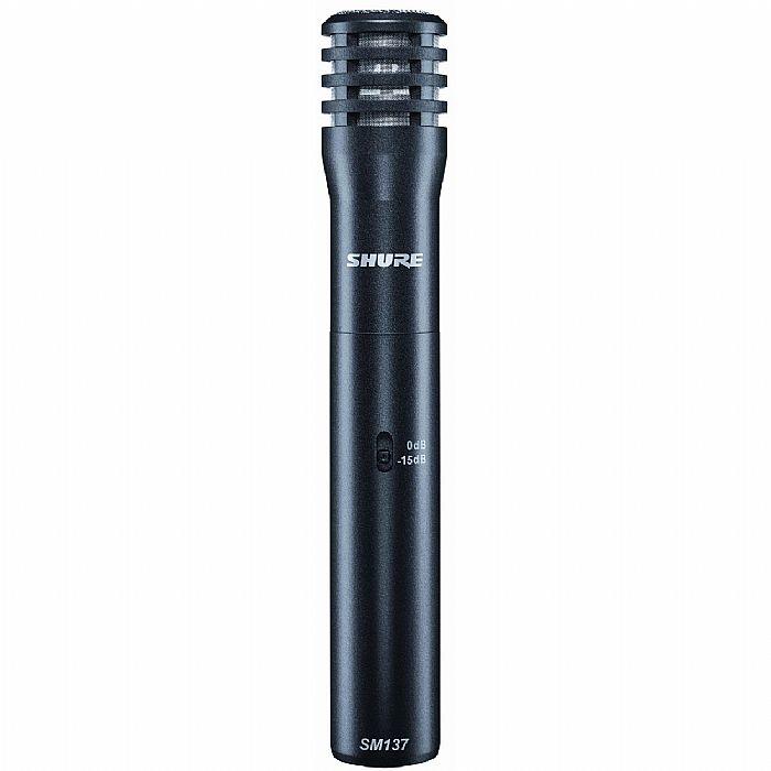 SHURE - Shure SM137 LC Instrument Condenser Microphone (black)
