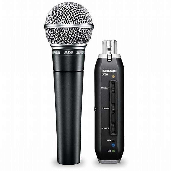 SHURE - Shure SM58 Vocal Microphone & X2U USB Adapter Bundle