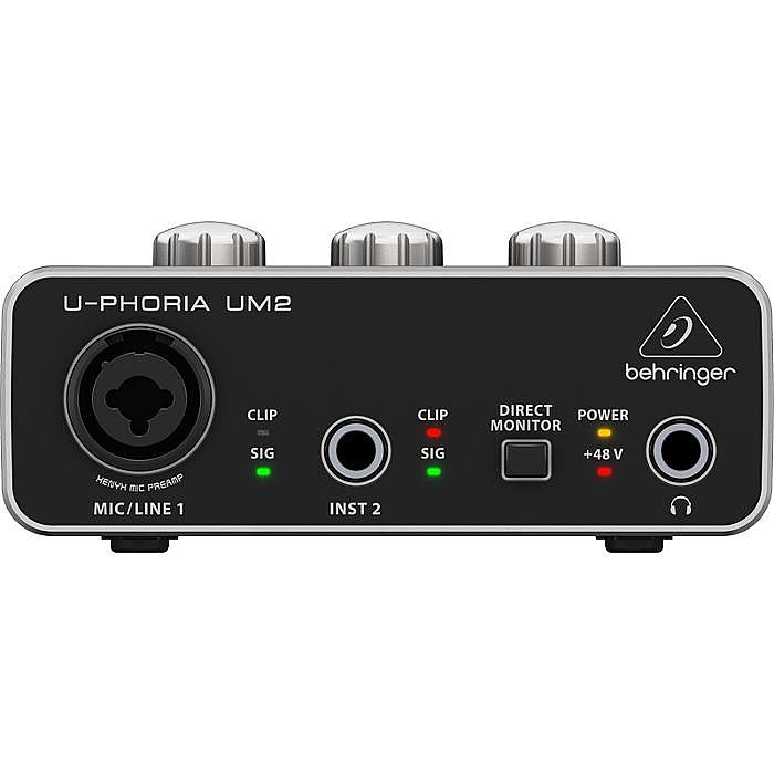 BEHRINGER - Behringer UM2 UPhoria USB Audio Interface + Tracktion 4 Audio Production Software