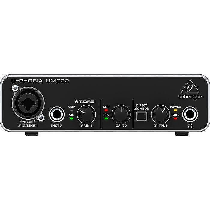 BEHRINGER - Behringer UMC22 UPhoria USB Audio Interface + Tracktion 4 Audio Production Software