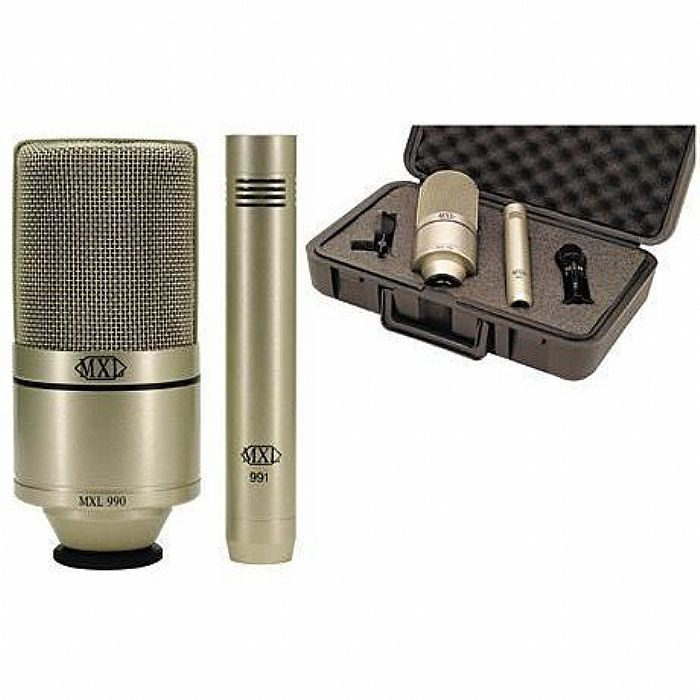 MXL - MXL 990/991 Large Diaphragm Microphone & Instrument Microphone Recording Package