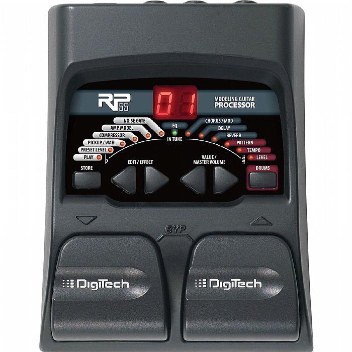 DIGITECH - Digitech RP55 Amp Modelling & Multi Effects Pedal For Guitar