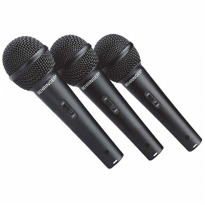 BEHRINGER - Behringer XM1800S Ultravoice Vocal & Instrument Microphone 3 Pack Set