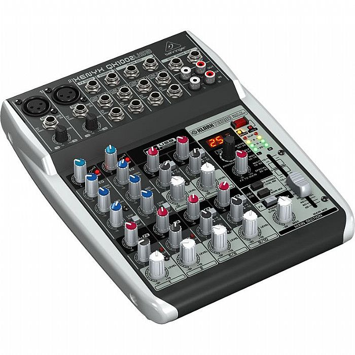 behringer behringer qx1002 usb xenyx 10 input 2 bus mixer multi effects processor usb audio. Black Bedroom Furniture Sets. Home Design Ideas