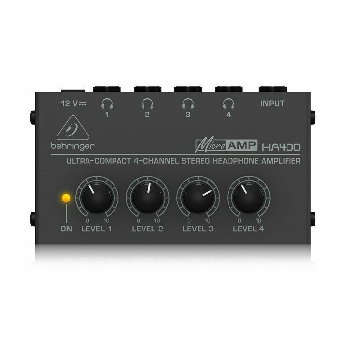 BEHRINGER - Behringer HA400 4 Channel Headphone Amplifier