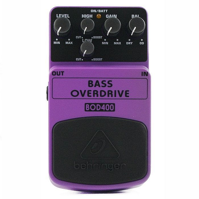 BEHRINGER - Behringer BOD400 Tube Sound Overdrive Pedal for Bass Guitar