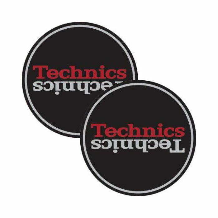 TECHNICS - Technics Duplex 2 Slipmats (black/silver/red, pair)