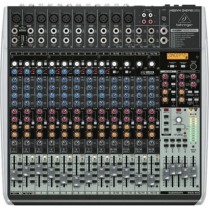 behringer behringer qx2442 24 channel usb xenyx mixer tracktion 4 audio production software. Black Bedroom Furniture Sets. Home Design Ideas