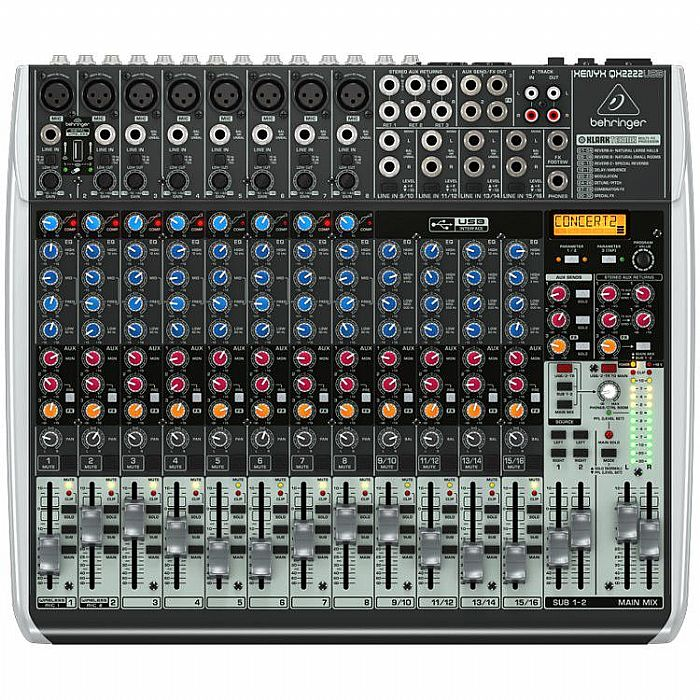 BEHRINGER - Behringer QX2222 USB Xenyx 12 Channel Mixer + Tracktion 4 Audio Production Software