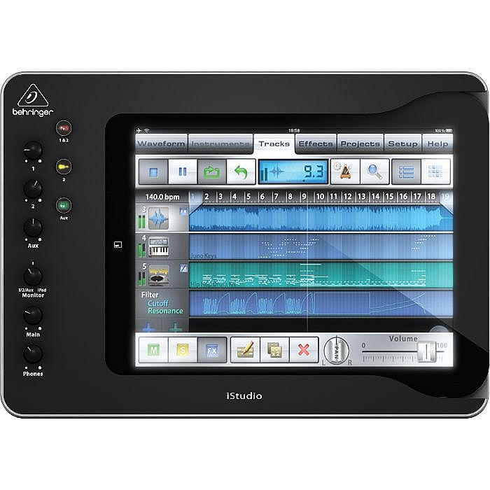 BEHRINGER - Behringer iS202 iStudio Professional iPad Docking Station Audio & MIDI Interface