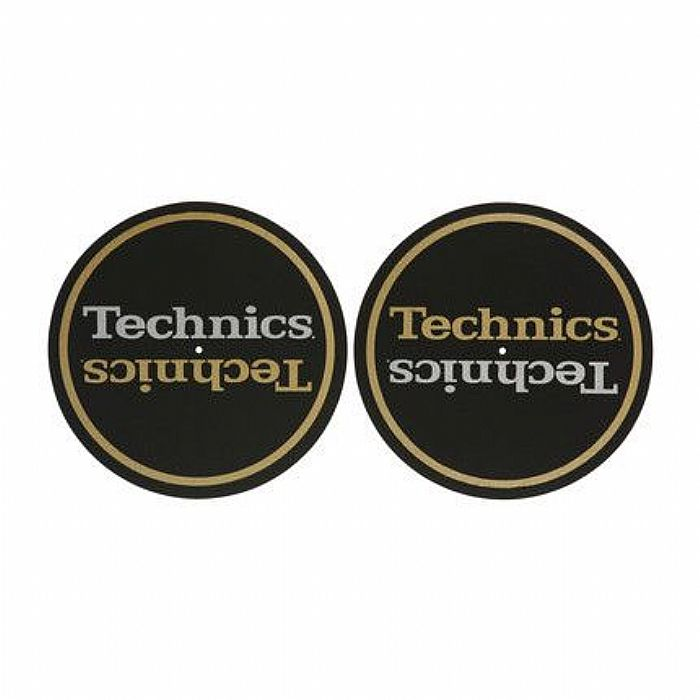 TECHNICS - Technics Limited Edition Champion Slipmats (pair, black gold silver)