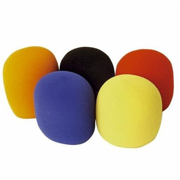 SOUND LAB - Sound LAB 35mm Foam Microphone Windshields (pack of 5, 50mm x 60mm, assorted colours)