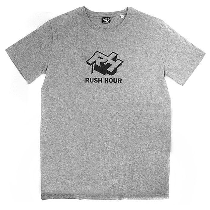 rush hour rush hour t shirt size xl grey with black logo