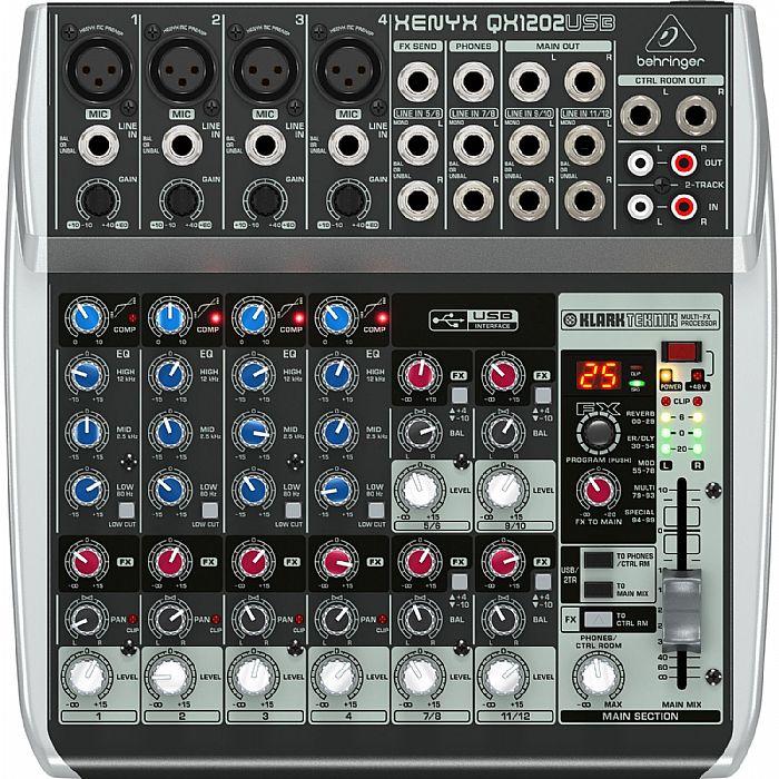 Behringer QX1202 USB Xenyx 12 Input, 2 Bus Mixer + Tracktion Audio  Production Software