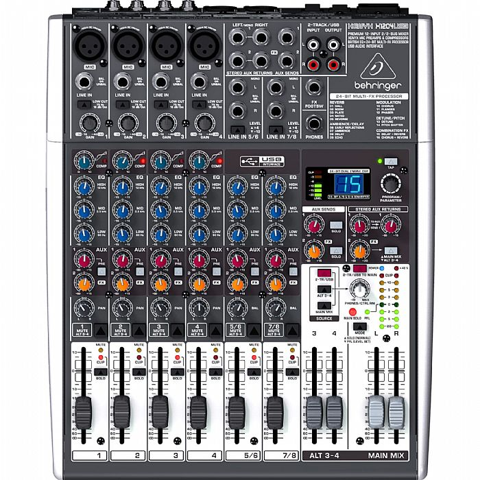 BEHRINGER - Behringer X1204 USB Xenyx Premium 12 Input 2/2 Bus Mixer + Tracktion 4 Audio Production Software